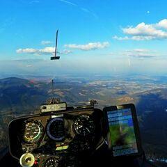 Flugwegposition um 16:09:34: Aufgenommen in der Nähe von Bad Gams, Österreich in 1549 Meter