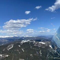 Flugwegposition um 13:53:48: Aufgenommen in der Nähe von Gemeinde Tamsweg, 5580 Tamsweg, Österreich in 2172 Meter