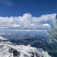 Flugwegposition um 14:25:31: Aufgenommen in der Nähe von Gemeinde Gaal, Österreich in 2910 Meter