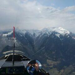 Flugwegposition um 13:02:34: Aufgenommen in der Nähe von Gemeinde Kammern im Liesingtal, Österreich in 1761 Meter