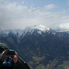 Flugwegposition um 13:02:38: Aufgenommen in der Nähe von Gemeinde Kammern im Liesingtal, Österreich in 1766 Meter