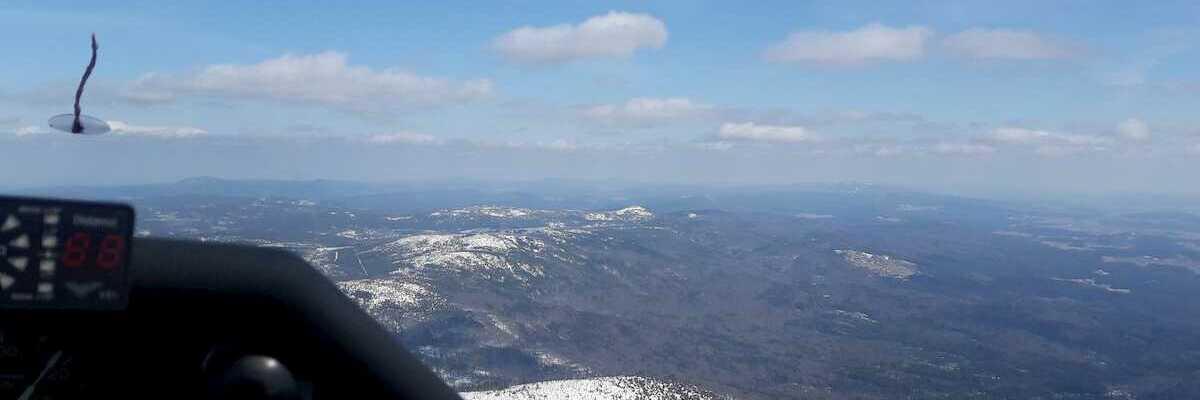Flugwegposition um 15:01:09: Aufgenommen in der Nähe von Gemeinde Helfenberg, 4184, Österreich in 1383 Meter