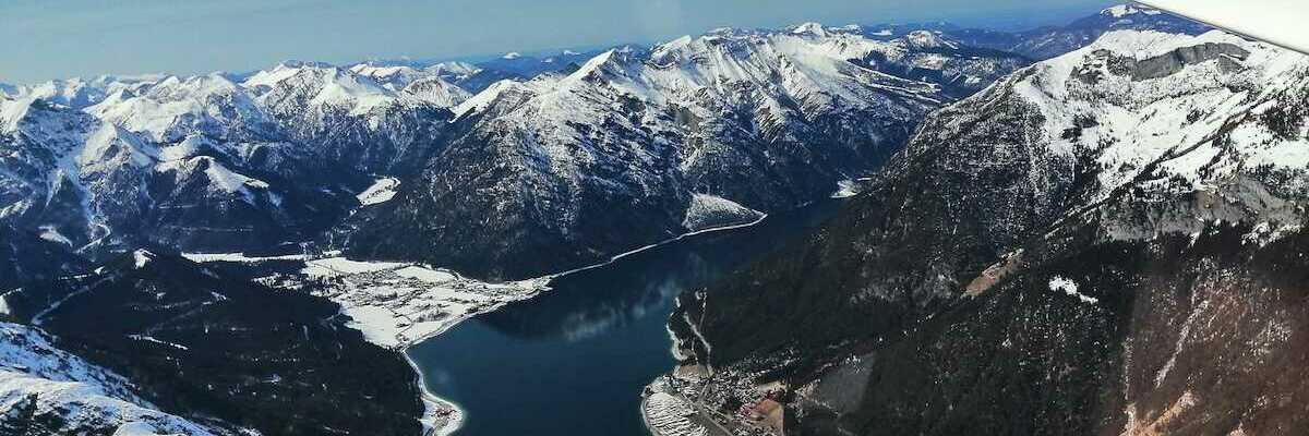 Flugwegposition um 14:24:45: Aufgenommen in der Nähe von Gemeinde Telfs, Telfs, Österreich in 2558 Meter