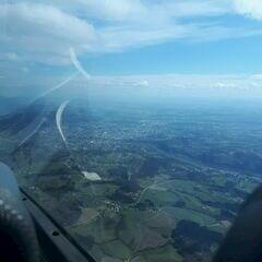Flugwegposition um 13:51:24: Aufgenommen in der Nähe von Linz, Österreich in 1572 Meter