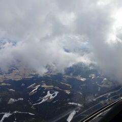 Flugwegposition um 15:31:38: Aufgenommen in der Nähe von Gemeinde Scheiblingkirchen-Thernberg, Österreich in 1396 Meter