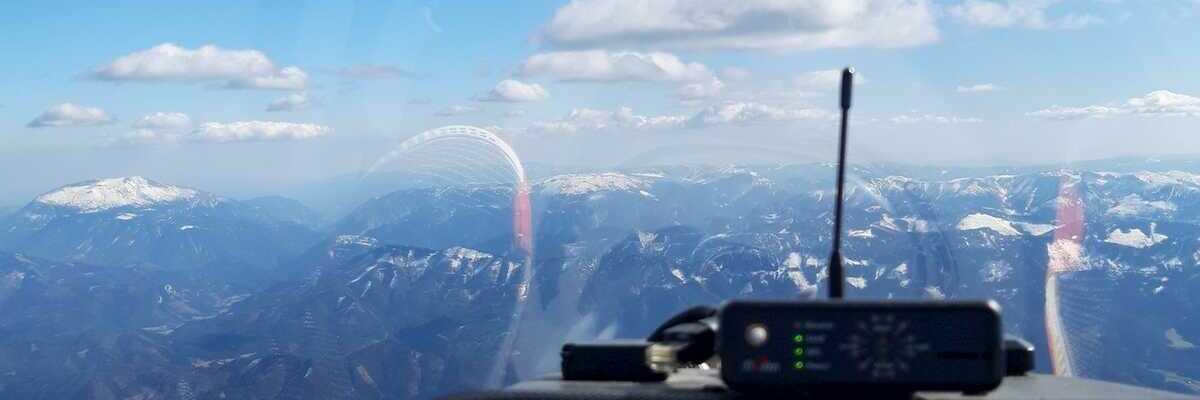 Flugwegposition um 13:14:47: Aufgenommen in der Nähe von Gemeinde Türnitz, Türnitz, Österreich in 2601 Meter