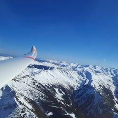 Flugwegposition um 14:15:39: Aufgenommen in der Nähe von Gemeinde Aigen im Ennstal, Österreich in 2357 Meter
