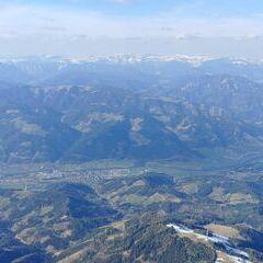 Flugwegposition um 14:37:05: Aufgenommen in der Nähe von Leoben, 8700 Leoben, Österreich in 2553 Meter