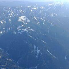 Flugwegposition um 14:36:44: Aufgenommen in der Nähe von Leoben, 8700 Leoben, Österreich in 2534 Meter