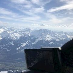 Flugwegposition um 15:18:14: Aufgenommen in der Nähe von Gemeinde Bludenz, Bludenz, Österreich in 3103 Meter