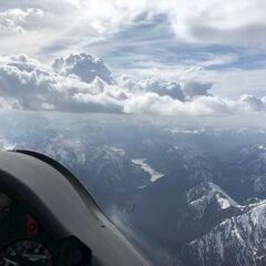 Flugwegposition um 14:11:29: Aufgenommen in der Nähe von Garmisch-Partenkirchen, Deutschland in 3247 Meter