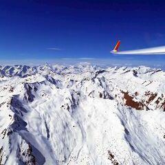 Flugwegposition um 11:53:36: Aufgenommen in der Nähe von Gemeinde Albeck, 9571, Österreich in 3137 Meter
