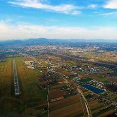 Flugwegposition um 15:01:07: Aufgenommen in der Nähe von Garanas, Österreich in 3105 Meter