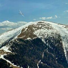 Flugwegposition um 11:28:16: Aufgenommen in der Nähe von Eppenstein, Österreich in 1853 Meter