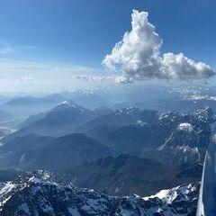 Flugwegposition um 12:50:38: Aufgenommen in der Nähe von 33010 Dogna, Udine, Italien in 3147 Meter