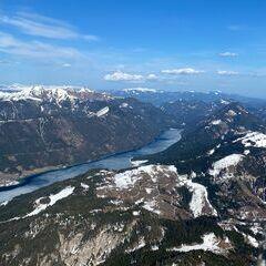 Flugwegposition um 14:52:52: Aufgenommen in der Nähe von Gemeinde Gitschtal, Gitschtal, Österreich in 2195 Meter