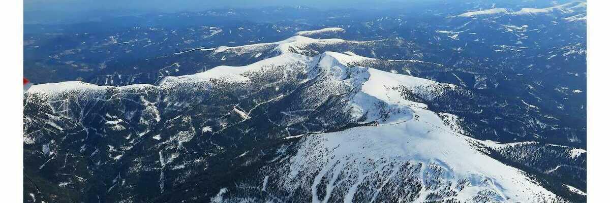 Flugwegposition um 13:44:52: Aufgenommen in der Nähe von Gemeinde St. Georgen ob Murau, Österreich in 3375 Meter