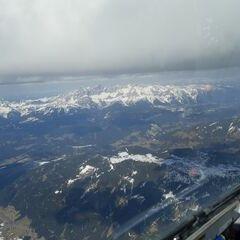 Flugwegposition um 14:10:29: Aufgenommen in der Nähe von Gemeinde Untertauern, Österreich in 3230 Meter