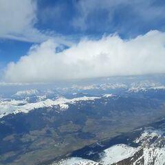 Flugwegposition um 13:21:29: Aufgenommen in der Nähe von Gemeinde Uttendorf, Österreich in 3251 Meter