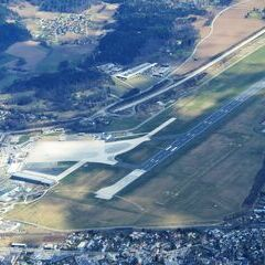 Flugwegposition um 10:35:18: Aufgenommen in der Nähe von Klagenfurt am Wörthersee, Österreich in 2411 Meter