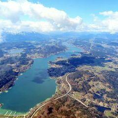 Flugwegposition um 10:36:05: Aufgenommen in der Nähe von Klagenfurt am Wörthersee, Österreich in 2430 Meter