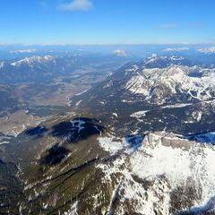 Flugwegposition um 15:11:57: Aufgenommen in der Nähe von Gemeinde Hermagor-Pressegger See, Österreich in 2977 Meter