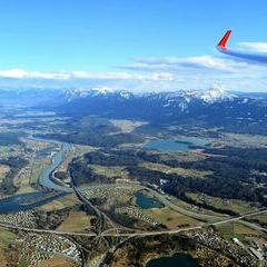 Flugwegposition um 15:34:35: Aufgenommen in der Nähe von Villach, Österreich in 2078 Meter