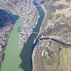 Verortung via Georeferenzierung der Kamera: Aufgenommen in der Nähe von Niederbayern, Deutschland in 1400 Meter