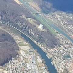 Verortung via Georeferenzierung der Kamera: Aufgenommen in der Nähe von Kelheim, Deutschland in 2000 Meter
