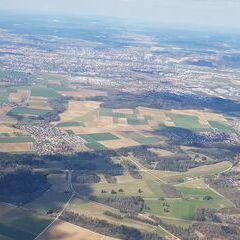 Verortung via Georeferenzierung der Kamera: Aufgenommen in der Nähe von Regensburg, Deutschland in 1600 Meter