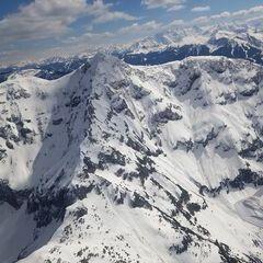 Flugwegposition um 12:12:20: Aufgenommen in der Nähe von Gemeinde Fieberbrunn, 6391 Fieberbrunn, Österreich in 1983 Meter