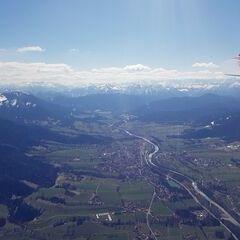 Flugwegposition um 11:06:29: Aufgenommen in der Nähe von Bad Tölz-Wolfratshausen, Deutschland in 1817 Meter