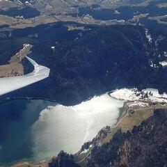 Flugwegposition um 11:36:07: Aufgenommen in der Nähe von Gemeinde Scheffau am Wilden Kaiser, Österreich in 1835 Meter