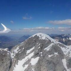 Flugwegposition um 11:40:34: Aufgenommen in der Nähe von Gemeinde Scheffau am Wilden Kaiser, Österreich in 2074 Meter