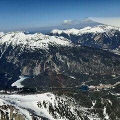 Flugwegposition um 11:13:57: Aufgenommen in der Nähe von Gemeinde Biberwier, Biberwier, Österreich in 2595 Meter