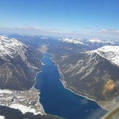 Flugwegposition um 12:34:56: Aufgenommen in der Nähe von Gemeinde Eben am Achensee, Österreich in 2594 Meter