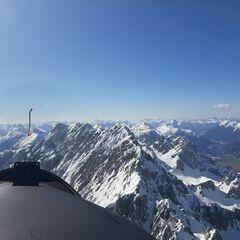 Flugwegposition um 13:57:19: Aufgenommen in der Nähe von Gemeinde Wildermieming, Österreich in 2798 Meter