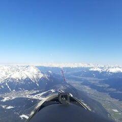 Flugwegposition um 14:24:53: Aufgenommen in der Nähe von Gemeinde Telfs, Telfs, Österreich in 2955 Meter