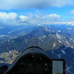 Flugwegposition um 09:40:38: Aufgenommen in der Nähe von Gemeinde Bad Bleiberg, Österreich in 2489 Meter