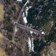 Flugwegposition um 15:18:45: Aufgenommen in der Nähe von Gemeinde Obervellach, 9821, Österreich in 2551 Meter