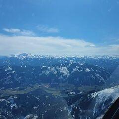 Flugwegposition um 12:19:32: Aufgenommen in der Nähe von Hall, 8911 Hall, Österreich in 2358 Meter