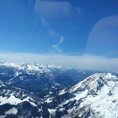Flugwegposition um 12:19:34: Aufgenommen in der Nähe von Hall, 8911 Hall, Österreich in 2358 Meter