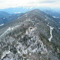 Flugwegposition um 12:56:07: Aufgenommen in der Nähe von Gemeinde Miesenbach, Österreich in 1223 Meter