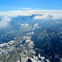 Flugwegposition um 13:49:52: Aufgenommen in der Nähe von Gemeinde Puchberg am Schneeberg, Österreich in 1695 Meter