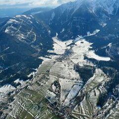 Flugwegposition um 13:55:32: Aufgenommen in der Nähe von Gemeinde Puchberg am Schneeberg, Österreich in 1704 Meter