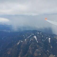 Flugwegposition um 15:23:59: Aufgenommen in der Nähe von Gemeinde Thörl, Österreich in 2725 Meter