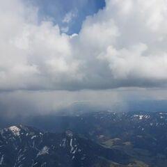 Flugwegposition um 15:09:35: Aufgenommen in der Nähe von Gemeinde Mautern in der Steiermark, 8774, Österreich in 2728 Meter