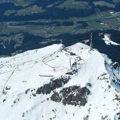 Flugwegposition um 11:37:55: Aufgenommen in der Nähe von Gemeinde St. Johann in Tirol, St. Johann in Tirol, Österreich in 2576 Meter