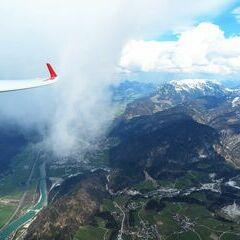 Flugwegposition um 12:07:25: Aufgenommen in der Nähe von Gemeinde Schwoich, Schwoich, Österreich in 2079 Meter