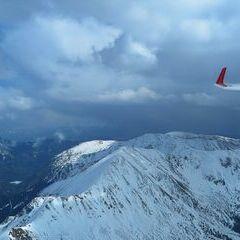 Flugwegposition um 14:00:48: Aufgenommen in der Nähe von Gemeinde Hohentauern, 8785, Österreich in 2675 Meter